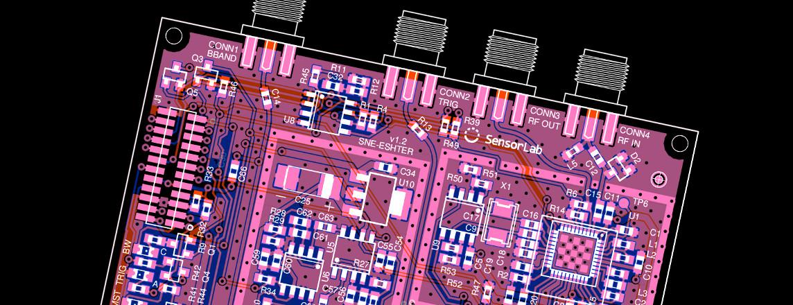 Compact UHF spectrum sensing receiver