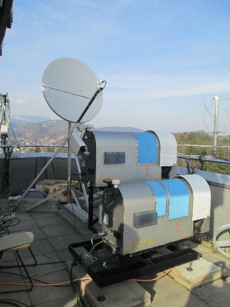 Alphasat satellite receiver, developed at IJS and installed in collaboration with Joanneum Research institute on Hilmwarte tower in Graz, Austria.